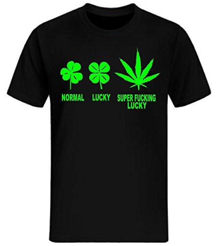 19419d47180549 Cooles T-Shirt für Männer NATURAL BORN CHILLER Aufdruck schwarz Größe M.  Infos zu den Nutzungsrechten. Normal Lucky Super Fucking Lucky T-Shirt Fun  Weed ...