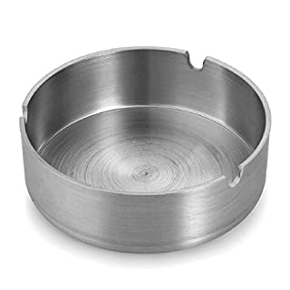 Newest Simple Design Round Stainless Steel Cigarette Holder Cigar Ashtray Metal Ashtray Home D¨¦cor