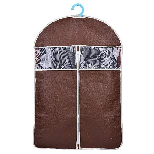 Top Kostüm Flug - Kleidersäcke für Kleiderschrank Aufbewahrung, atmungsaktiv, staubdicht, strapazierfähiger Stoff mit Reißverschluss, für Kleider, Kleiderhülle, Sichtfenster und Taschen für die Reise, coffee, Large