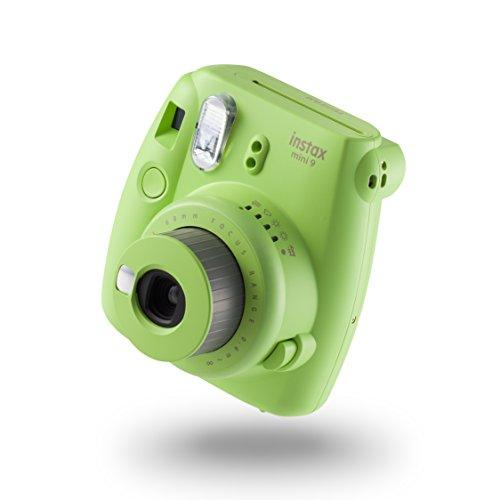 Fujifilm instax mini 9▒aparat, lime-grün mit 10 Aufnahmen Fuji Digital-kamera-bundle