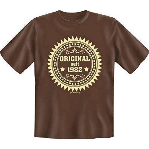 Spass T-Shirt Original seit 1982 Fb schokobraun Braun