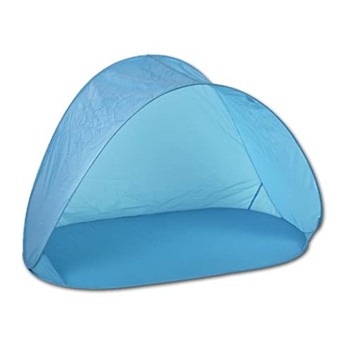 Strandmuschel Pop Up von JEMIDI - Strandzelt Sonnenschutz Strand Muschel Wind Schutz (Blau)