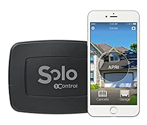 1Control SOLO - l'Ouvre-Portail Bluetooth 4.0 noir pour smartphone - Pour portail et garage - Compatible avec plus de radiocommandes - Made in Italy - Aucun cble à connecter et batteries déjà incluses