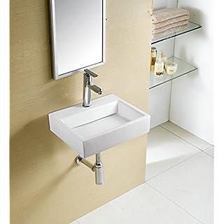 Art-of-Baan® Design Waschbecken Aufsatzwaschbecken mit Lotus-Effekt; spezieller Ablauf, zur Wandmontage 570x460x135 mm (5200B)