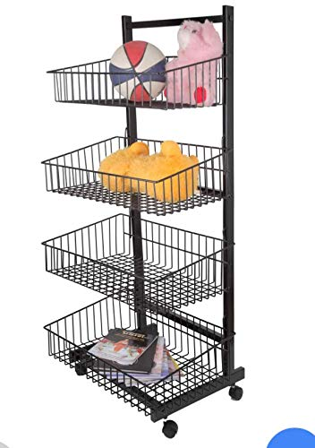 Dinta mall 3 Layer Fruit and Vegetable Stand/Basket/Trolley Modern Kitchen Storage Rack (22 H x 16 L x 9 W (Inch))