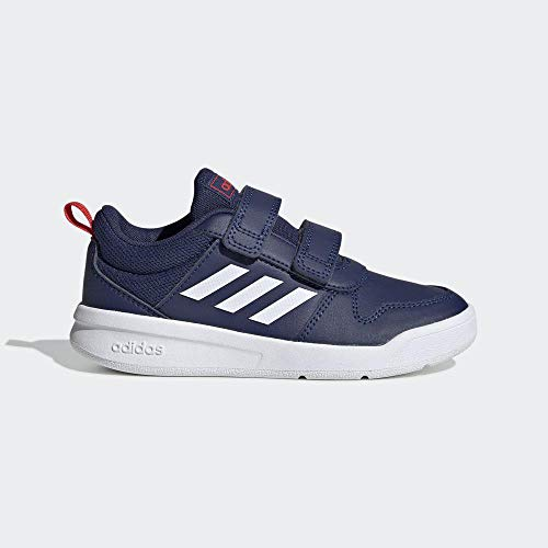 adidas Unisex-Child Tensaur Road Running Shoe, Dark Blue/Footwear White/Active Red, 33 EU