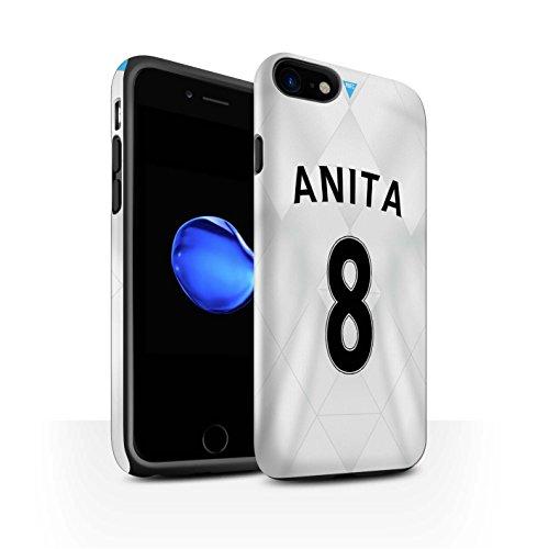 Offiziell Newcastle United FC Hülle / Matte Harten Stoßfest Case für Apple iPhone 7 / Saivet Muster / NUFC Trikot Away 15/16 Kollektion Anita