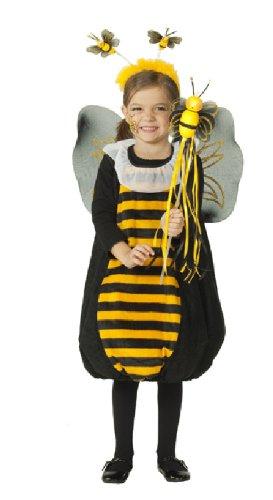 (Bienenkostüm Kostüm Biene bienchen für Kinder Gr. 104, 116, 128, 92, Größe:116)