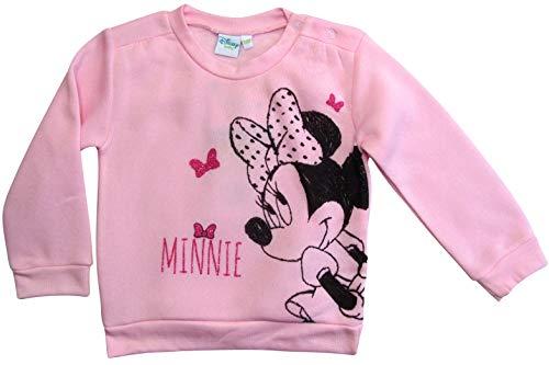 Minnie Mouse Pullover Disney Mädchen (Rosa, 62-68)