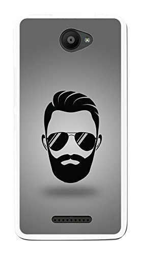 Tumundosmartphone Funda Gel TPU para BQ AQUARIS U/U Lite diseño Barba Dibujos