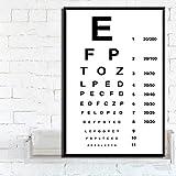 RQJOPE Dekorative Malerei Poster und Druck Moderne Sehtest Beste Augen Test Angebote Poster Wandkunst Bild Leinwand Malerei für Room Home Decor-16x24inch
