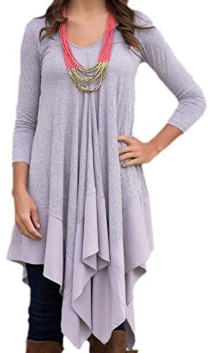 erdbeerloft - Damen Asymmetrisches Oversize Kleid, A-Linie, 34-42, Viele