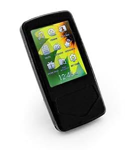 Tuff-Luv Slim&Lite Silikon Hülle / Tasche inklusive Displayschutz für (Samsung YP-Q1) Schwarz + Frei Displayschutz