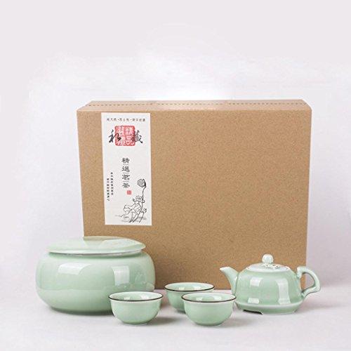 Celadon Creamer (Dehua China Ceramics Chinesischer Longquan Celadon Keramik Tee Topf Tee Kungfu Tee-Set 5 Stück)