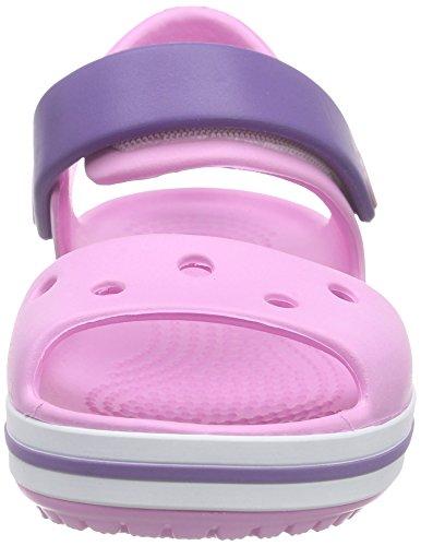Crocs Crocband, Sandales Mixte enfant Rose (Carnation/Blue Violet)