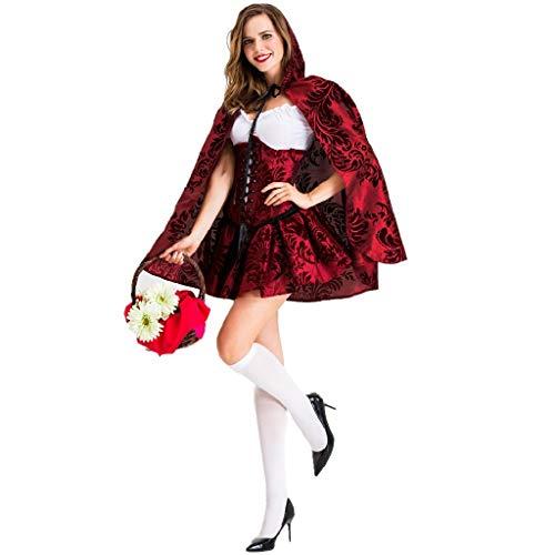 Weihnachtsfeier Kostüm Erwachsene Für - TcooLPE Frauen Rotkäppchen Kostüm Halloween Weihnachtsfeier Rolle Spielen Erwachsene Cosplay Kleid Kostüm for Frauen Rotkäppchen Cosplay Halloween Karneval (Size : L)
