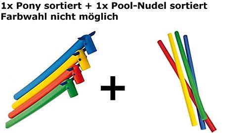 Explorer Poolnudel Schwimmnudel 160x7 cm aus PU-Schaum (Pool-Pony-Set, Sortiert) -