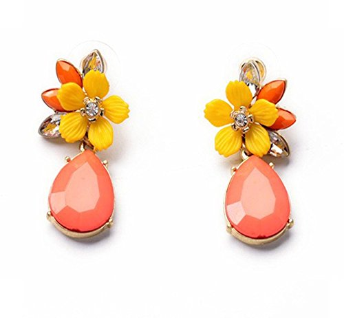 Crunchy Fashion Jewellery Gold Plated Stylish Fancy Party Wear Drop Earrings for Women and Girls