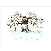 Impresión en metacrilato 120 x 90 cm: Badger in the snow de Leonora Camusso