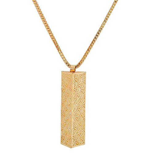 Maayra American Diamond Pendant Gold Cocktail Party Jewellery - Sober, Rhodium Plated, Brass based  available at amazon for Rs.385