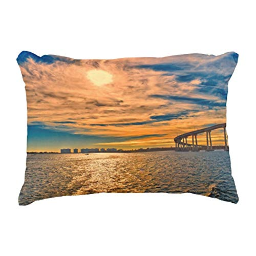 MrRui Usa Ca San Diego-Coronado Bay Bridge Decorative Kissenbezug Pillow Case Cushion Cover 18x18 inch -