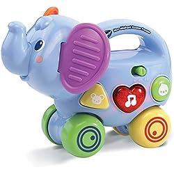 VTech- Elephant Pousse Baby Jouet Premier Age, 80-513605, Multicolore