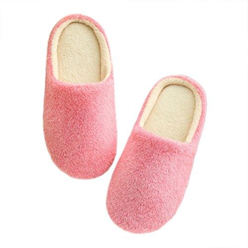 LUOEM Zapatillas Estar Casa Mujer Invierno Pantuflas