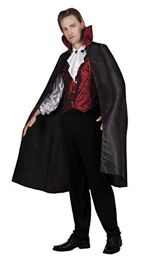 Fancy Ole - Herren Männer Vampir Kostüm, Halloween, Karneval, Schwarz, Größe (Männer Für Kostüme Antike)