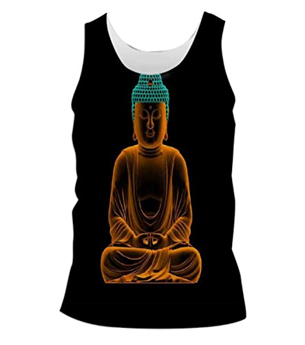 Snoogg-Buddha-Glowing-Peace-Mens-Casual-Beach-Fitness-Vests-Tank-Tops-Sleeveless-T-shirts