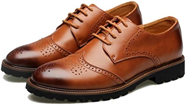 NSHX Scarpe da uomo, scolpite, scarpe da uomo Bullock, pelle, 43 | Outlet Online  | Uomo/Donna Scarpa