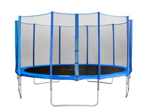 SixBros. SixJump 4,30 M Trampoline de Jardin Bleu - Filet de sécurité - CST430/L1760