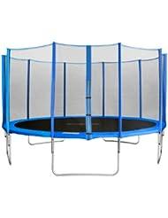 SixBros. SixJump 4,30 M Trampoline de jardin bleu Certifié par Intertek / GS - Filet de sécurité TB430/2216
