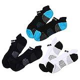 iixpin 3 Paar Sport Sneaker Socken mit Hochferse und Sport Schriftzug, Sneakersocken Bergsteigen Radsport Socken