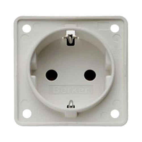 Preisvergleich Produktbild Berker Integro Einbausteckdose für 230V - grau