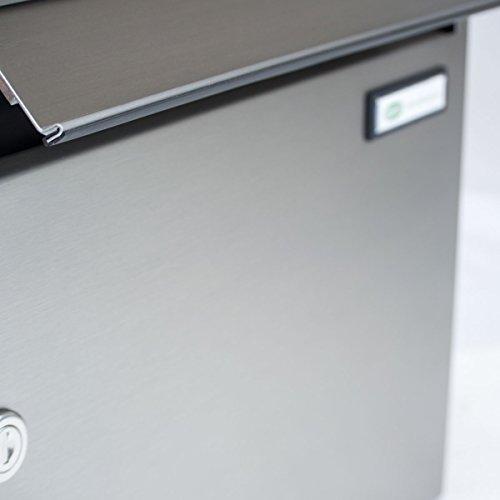 2er Edelstahl Standbriefkasten BASIC 810-SP mit Klingel – Namensschilder – GIRA Kamera & Einbaulautsprecher - 6
