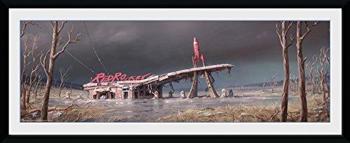 fallout bilder Fallout Poster im Rahmen Red Rocket 30 x 76 cm
