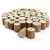 Soportes de madera natural para tarjetas (50 unidades)