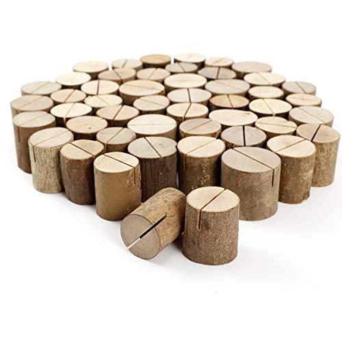 Rustikale Tischkartenhalter aus Holz