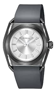 Breil Men's Quartz Watch with Silver Dial Analogue Display and Black Silicone Strap TW0979