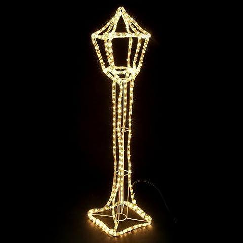 LED Standlaterne Weihnachten (H 1,06m) warmweiss Lichtschlauch 8m