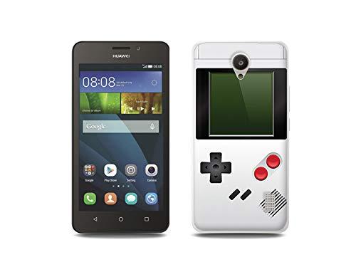 etuo Handyhülle für Huawei Y635 - Hülle, Silikon, Gummi Schutzhülle - Weißes Game Boy