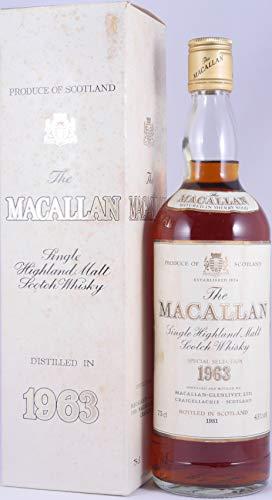 Macallan 1963 18 Years Sherry Wood Special Selection Highland Single Malt Scotch Whisky 43,0{5a97cca8cf7c00e919b82183fa7c26942e64cea551e7ba5f89d6e0255cc1f4ed} Vol. / 75cl - seltene Abfüllung für Pro Nobilitate Ebert, Hainzl & Co.!