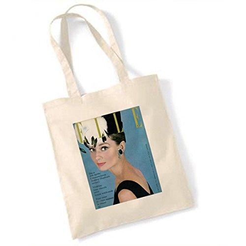 Tragetasche, Motiv Audrey Hepburn Elle-Cover (Französisch) Januar 1962 (Tasche Elle)
