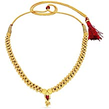 Candere By Kalyan Jewellers 22k (916) Yellow Gold and Ruby Choker Necklace for Women
