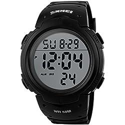 Skmei Herren sk1068h Outdoor Sports Big Face Präzise Wasserdicht elektronische digitale Armbanduhr Schwarz