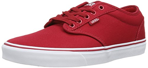 Vans Rot Schuhe Skate (Vans ATWOOD, Herren Sneakers, Rot ((Canvas) red/wh 5GH), 43 EU)