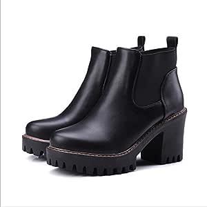 Chelsea, di stivali con nera spessa la nuovo di Stivali