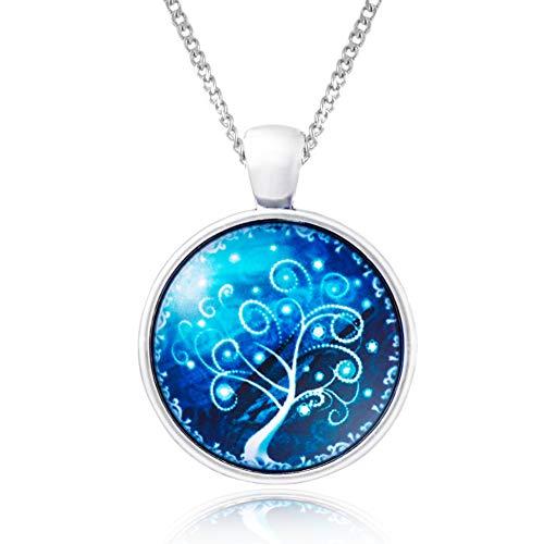 Klimisy - Lebensbaum Kette mit Anhänger- Buy one & Plant one Tree - Hochwertige Halskette mit Baum des Lebens Medaillon - Eco & Fair -