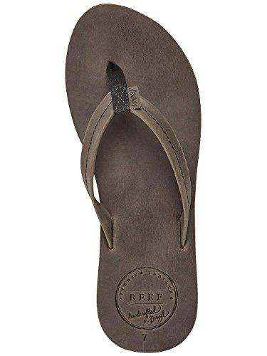 Reef Donna Chill Leather Sandali infradito Grigio (grigio)