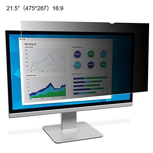 Minear PC Privacy Screen Filter PET-Material Anti-Scratch Anti-Glare Anti-Strahlung Anti-Reflection No Border Insert Design Für Unternehmen Institutionen 21-24 Zoll (22-bildschirm Glare Anti)